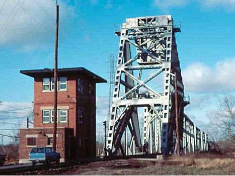 PM Saginaw River Bridge and Tower - 1983